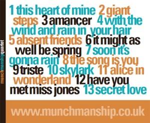 Munch Manship Quartet CD